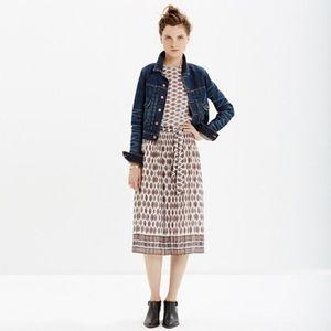 Madewell Pleated Midi Skirt